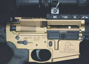 custom laser engraving, ducks unlimited, wyoming ducks unlimited, ar-15, wy-15, wyoming arms, gun of the year
