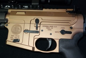 custom laser engraving, wyoming state seal, govenor matt mead, ar-15, wy-15, wyoming arms