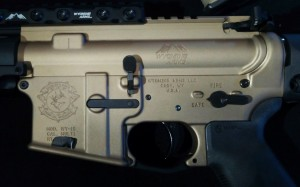 custom laser engraving, wyoming arms, ar-15, wy-15