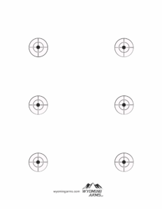 Wyoming Arms printable targets